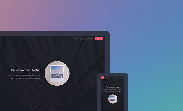 Landed HTML CSS Template