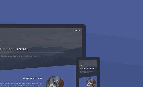 Solid-state Website Template